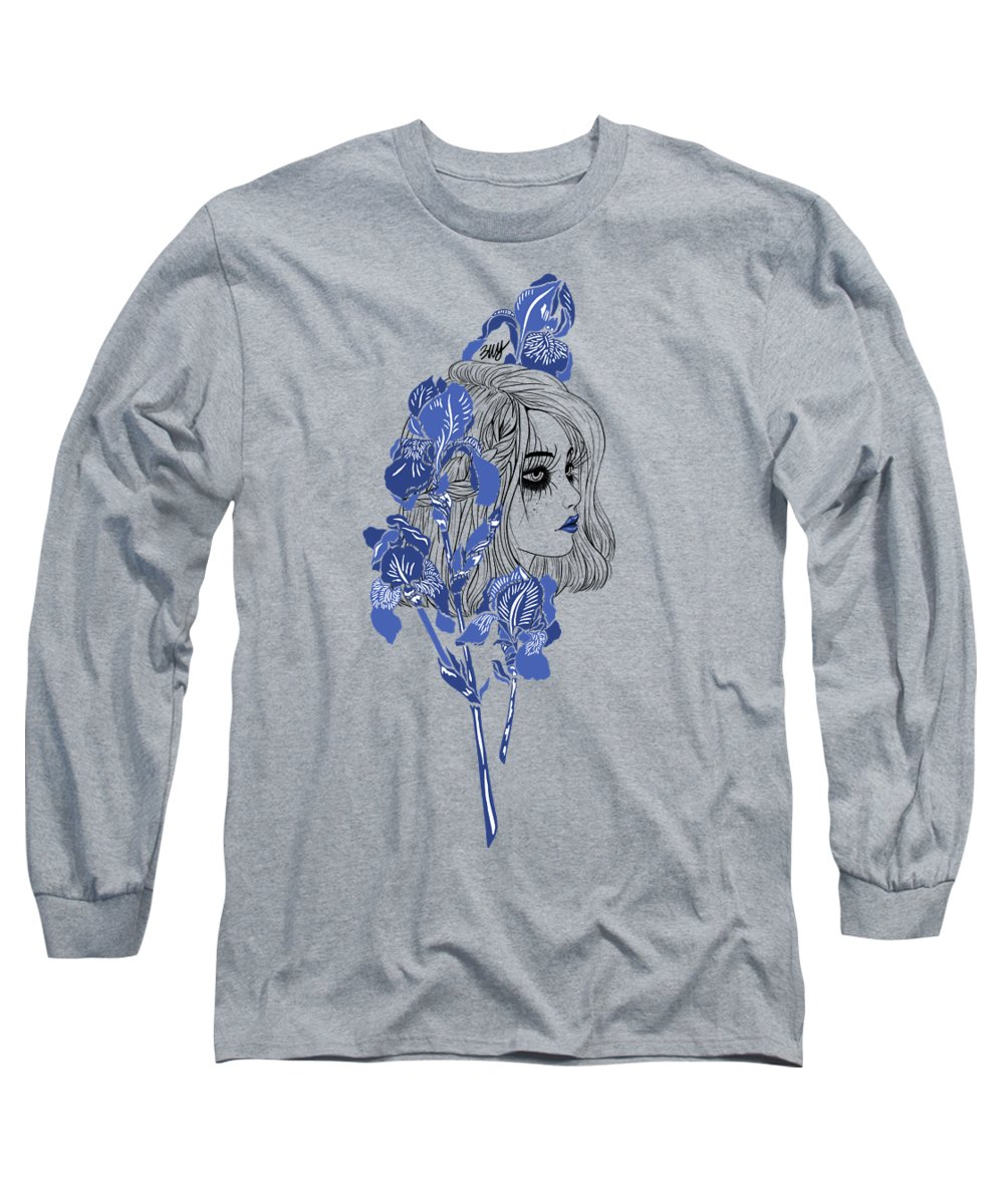 Digital Art Long Sleeve T-Shirt featuring the digital art China girl by Elly Provolo