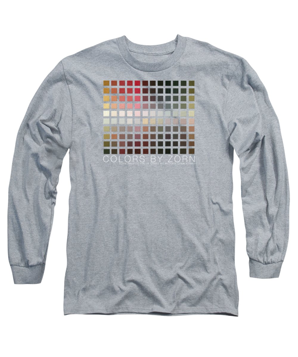 Zorn Color Palette Long Sleeve T-Shirt featuring the painting Colors By Zorn by Michael Lynn Adams