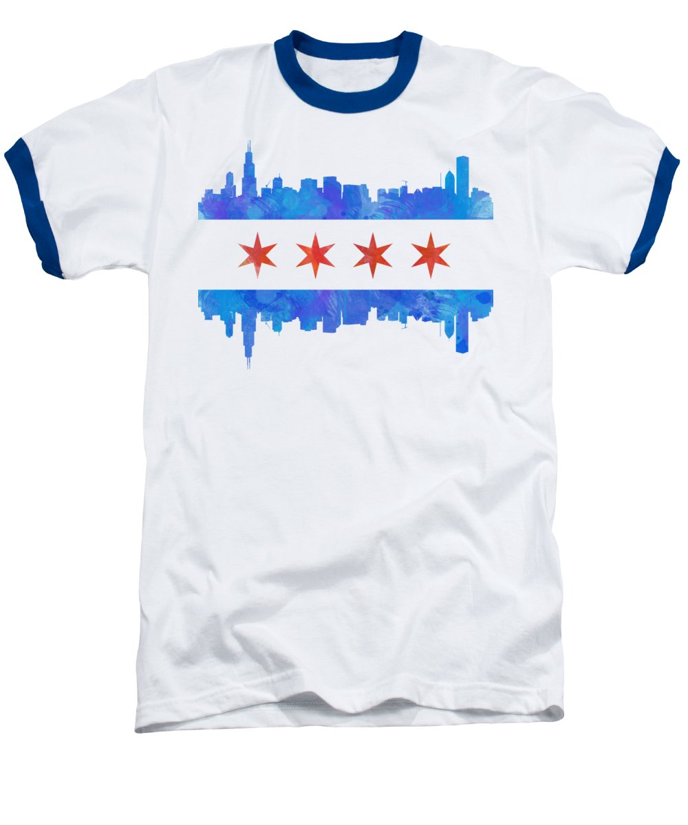 Chicago Skyline Baseball T-Shirts