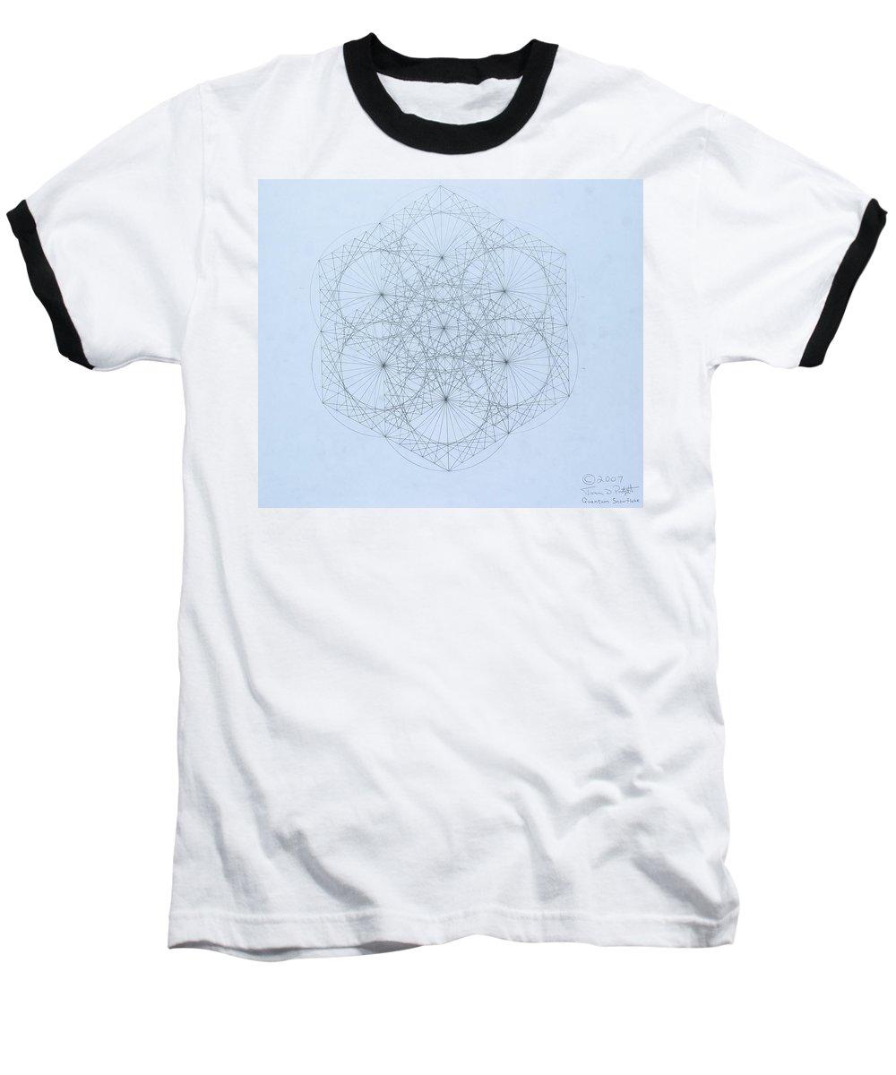 Jason Padgett Baseball T-Shirt featuring the drawing Quantum Snowflake by Jason Padgett