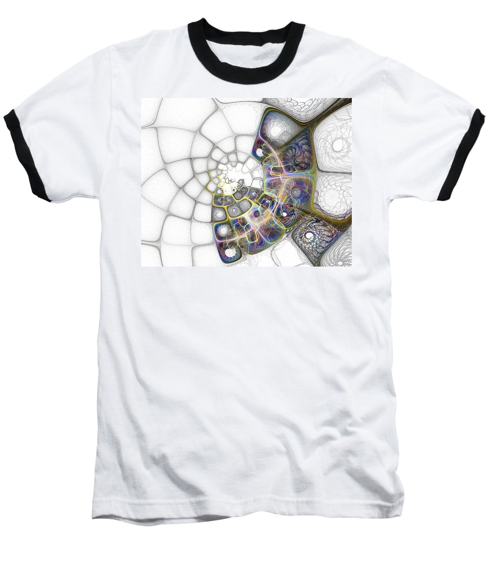 Digital Art Baseball T-Shirt featuring the digital art Memories by Amanda Moore