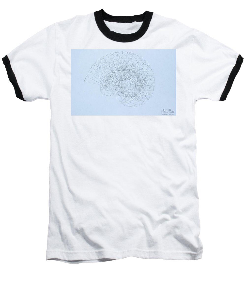 Jason Padgett Baseball T-Shirt featuring the drawing Quantum Nautilus by Jason Padgett