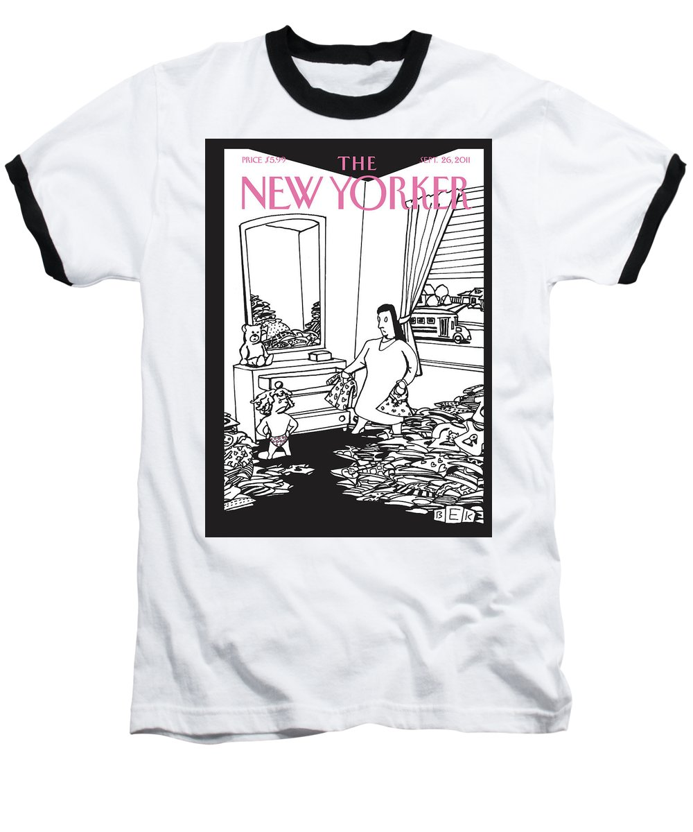 Clothes Baseball T-Shirt featuring the painting New Yorker September 26th, 2011 by Bruce Eric Kaplan
