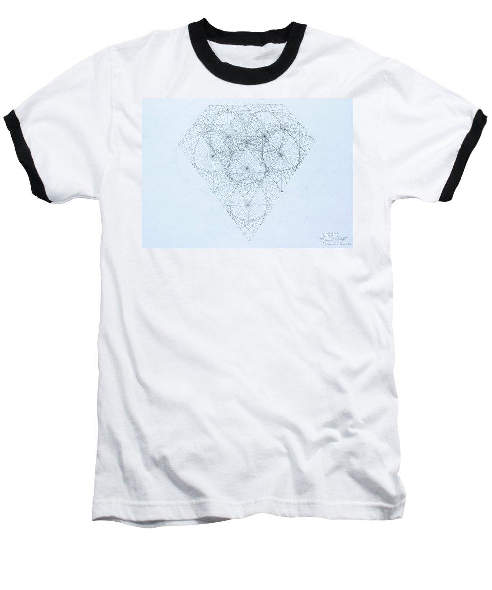 Jason Padgett Baseball T-Shirt featuring the drawing Diamond Quanta by Jason Padgett