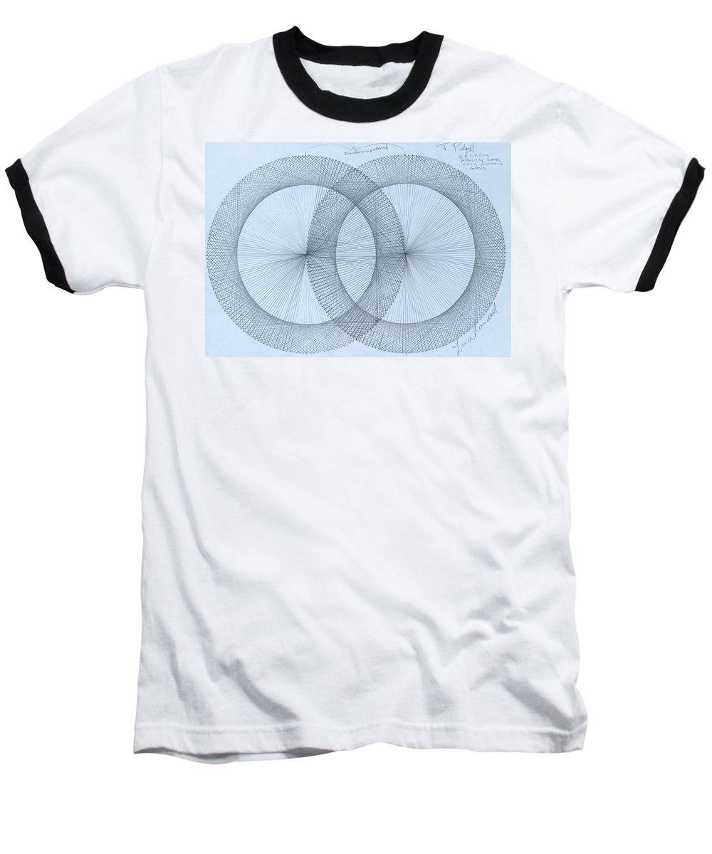 Magnet Baseball T-Shirt featuring the drawing  Magnetism by Jason Padgett