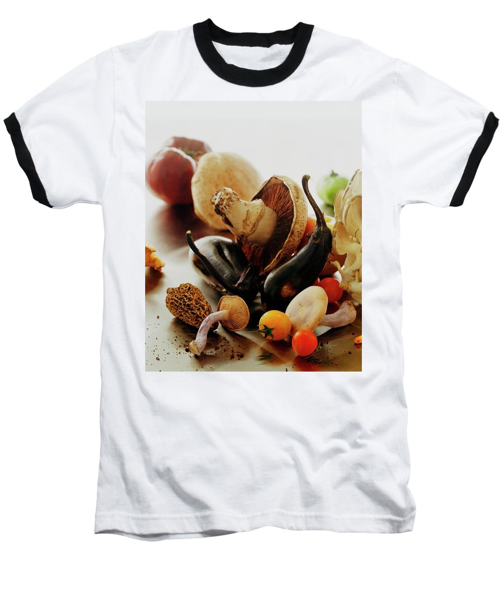 Vegetables Baseball T-Shirt featuring the photograph A Pile Of Vegetables by Romulo Yanes