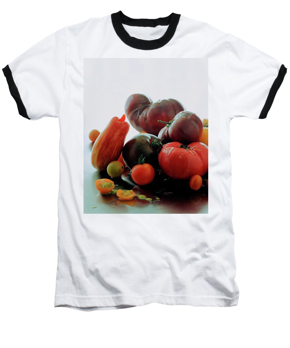 Vegetables Baseball T-Shirt featuring the photograph A Variety Of Vegetables by Romulo Yanes