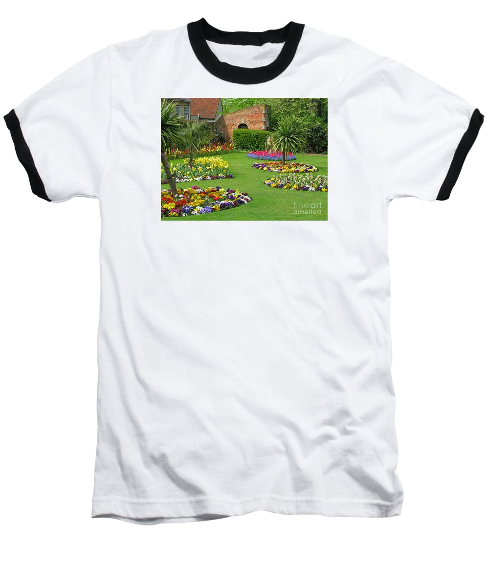 Garden Baseball T-Shirt featuring the photograph Castle Park Gardens by Ann Horn
