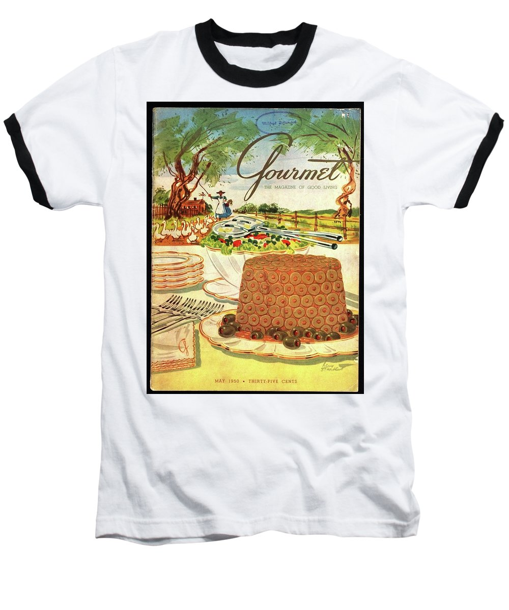 Food Baseball T-Shirt featuring the photograph Gourmet Cover Featuring A Buffet Farm Scene by Henry Stahlhut