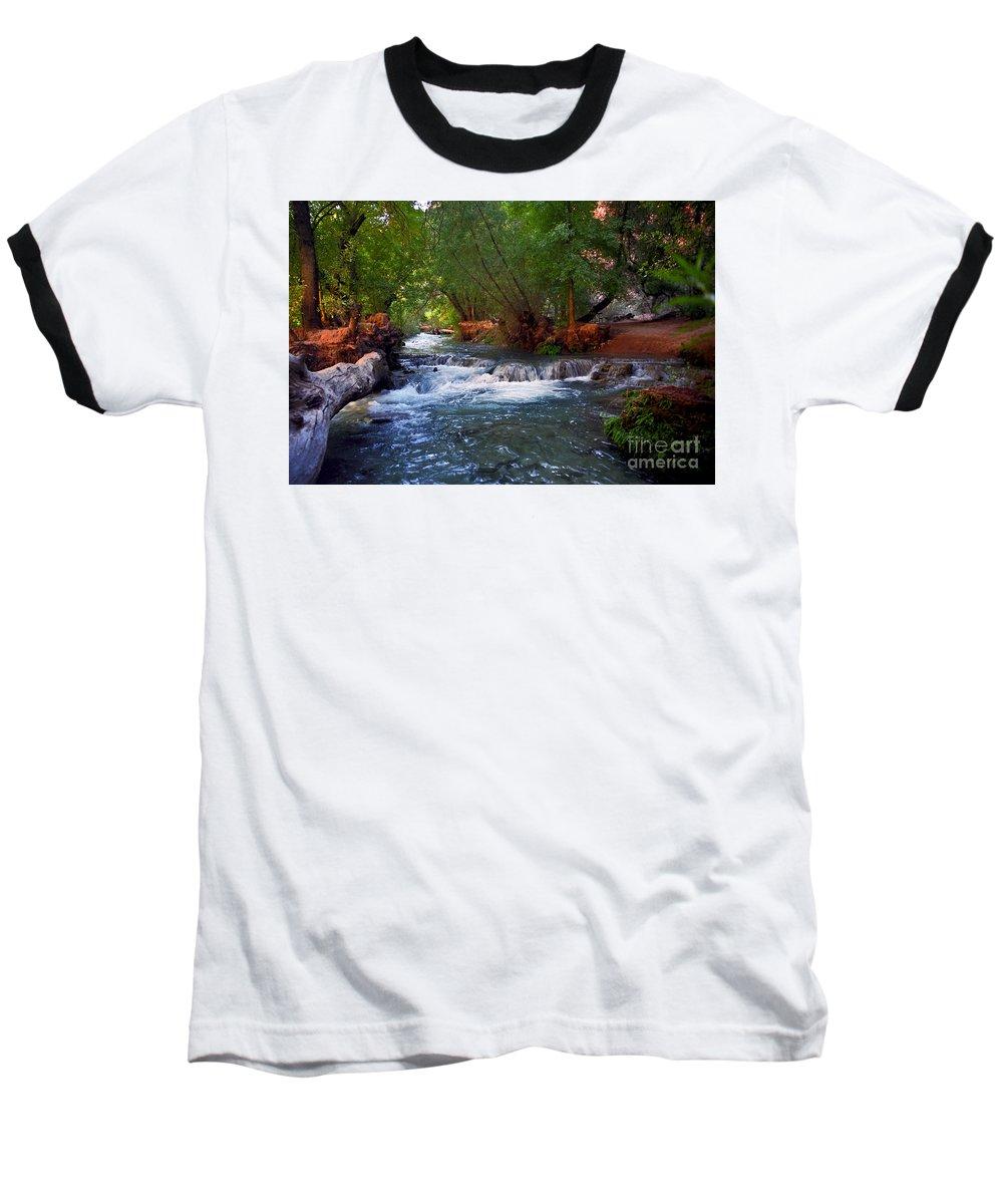 Arizona Baseball T-Shirt featuring the photograph Havasu Creek by Kathy McClure