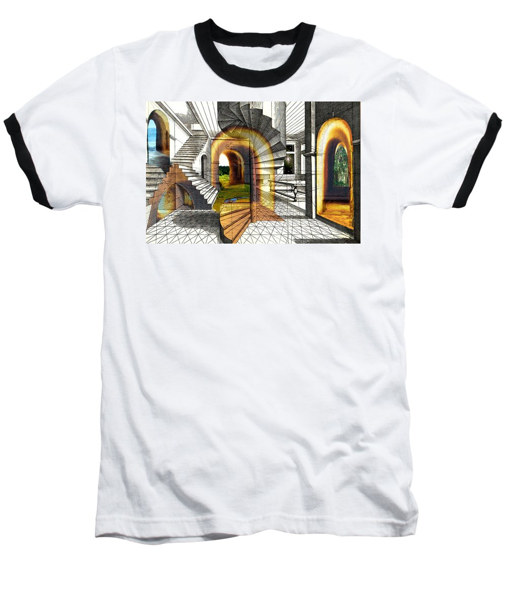 House Baseball T-Shirt featuring the digital art House Of Dreams by Lisa Yount