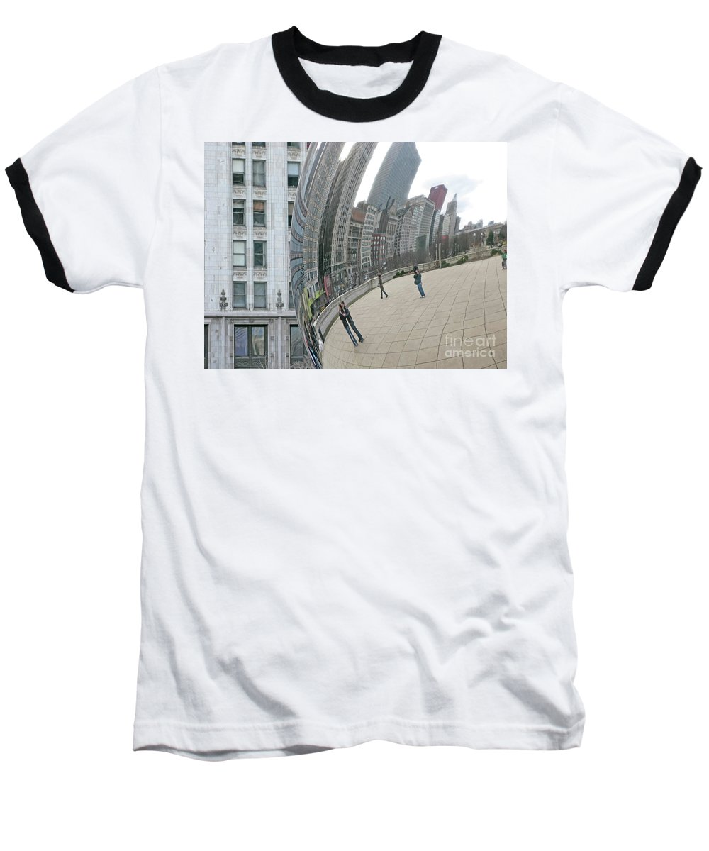 Chicago Baseball T-Shirt featuring the photograph Imaging Chicago by Ann Horn