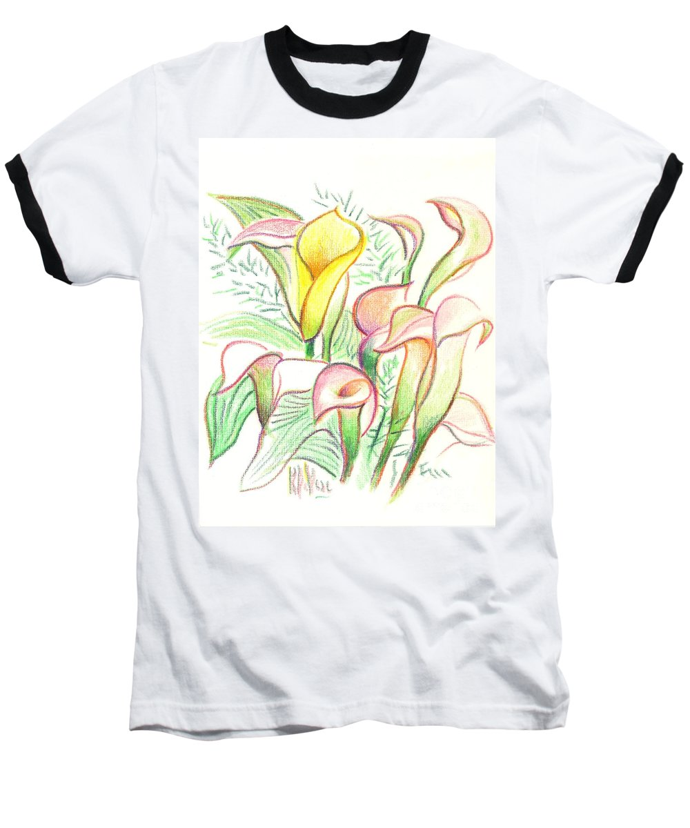 In The Golden Afternoon Baseball T-Shirt featuring the painting In The Golden Afternoon by Kip DeVore
