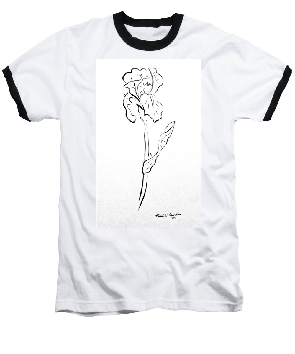 Abstract Baseball T-Shirt featuring the drawing Iris II by Micah Guenther