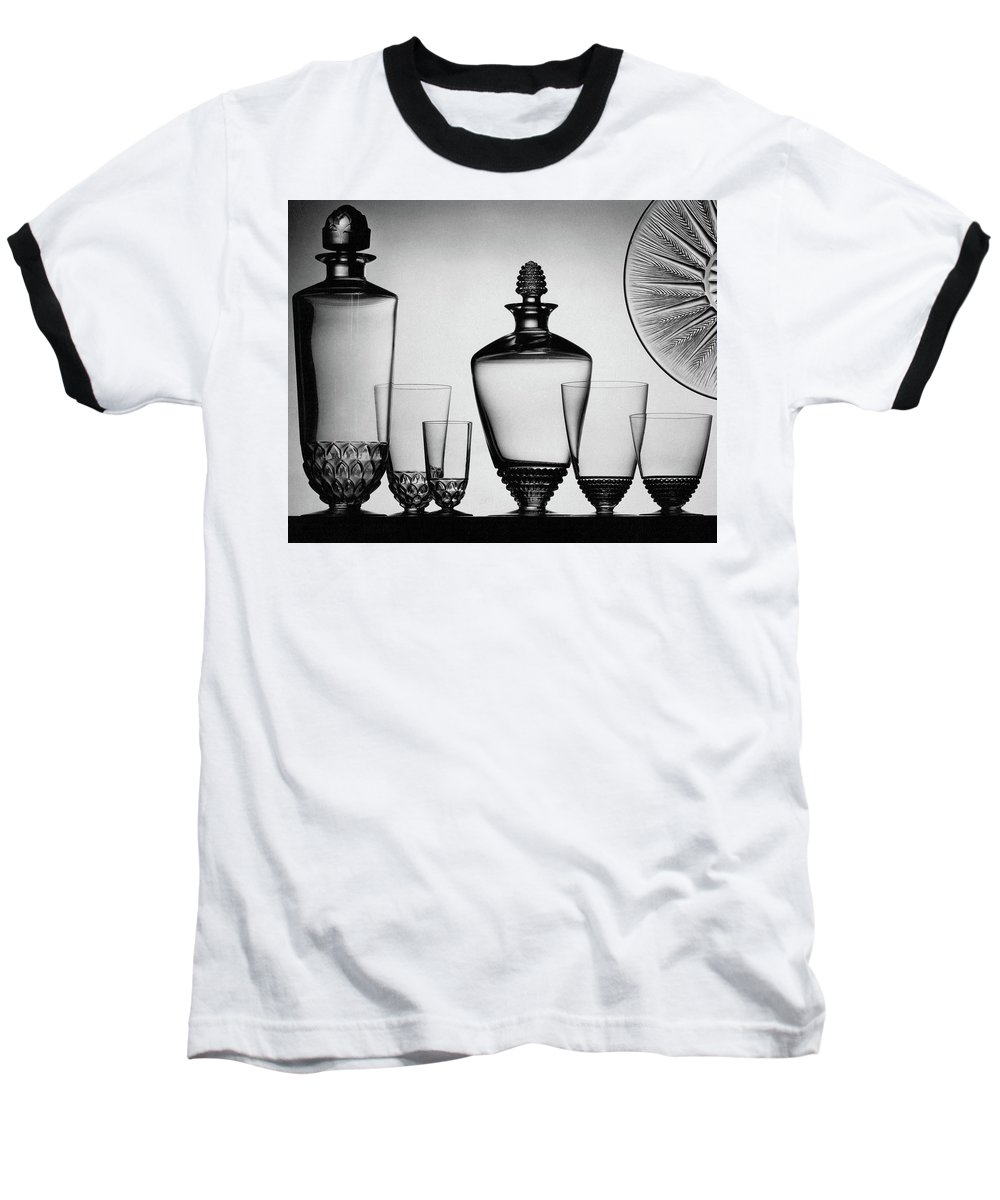 Home Accessories Baseball T-Shirt featuring the photograph Lalique Glassware by The 3