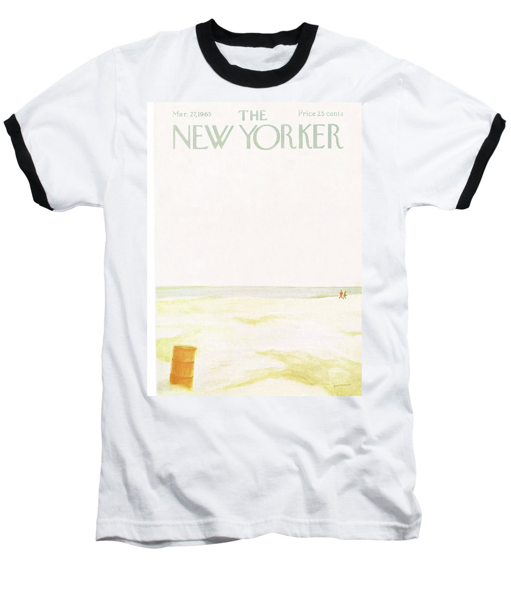 Sea Baseball T-Shirt featuring the painting New Yorker March 27th, 1965 by James Stevenson