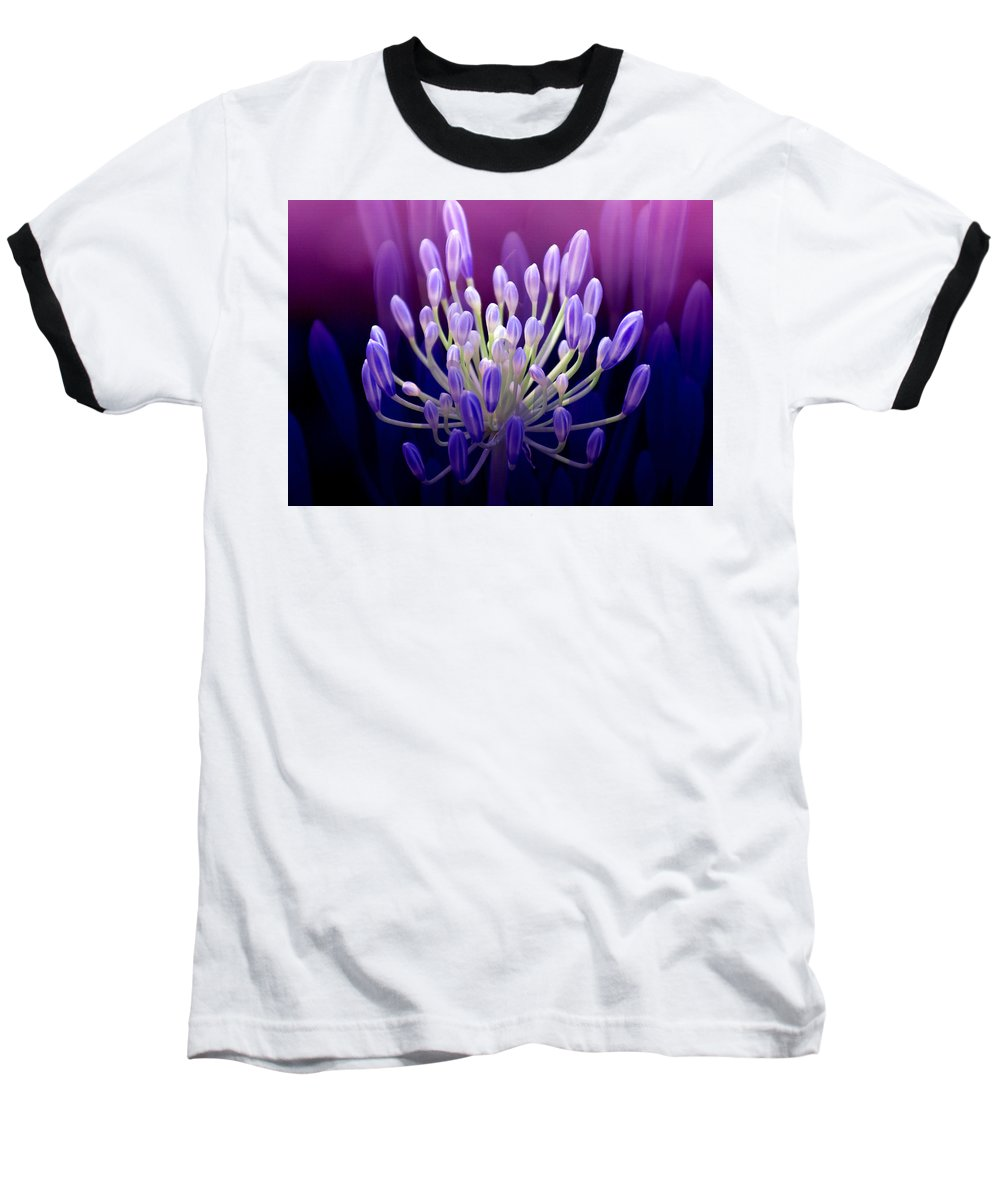 Agapanthus Baseball T-Shirt featuring the photograph Praise by Holly Kempe