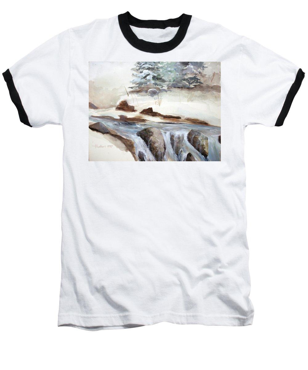 Rick Huotari Baseball T-Shirt featuring the painting Springtime by Rick Huotari