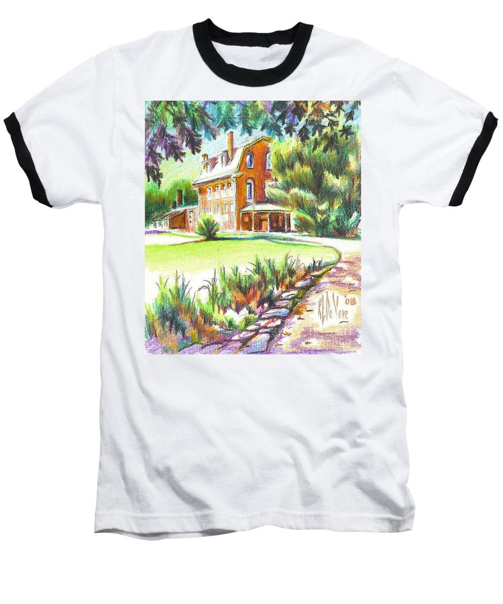 Summertime At Ursuline No C101 Baseball T-Shirt featuring the painting Summertime At Ursuline No C101 by Kip DeVore