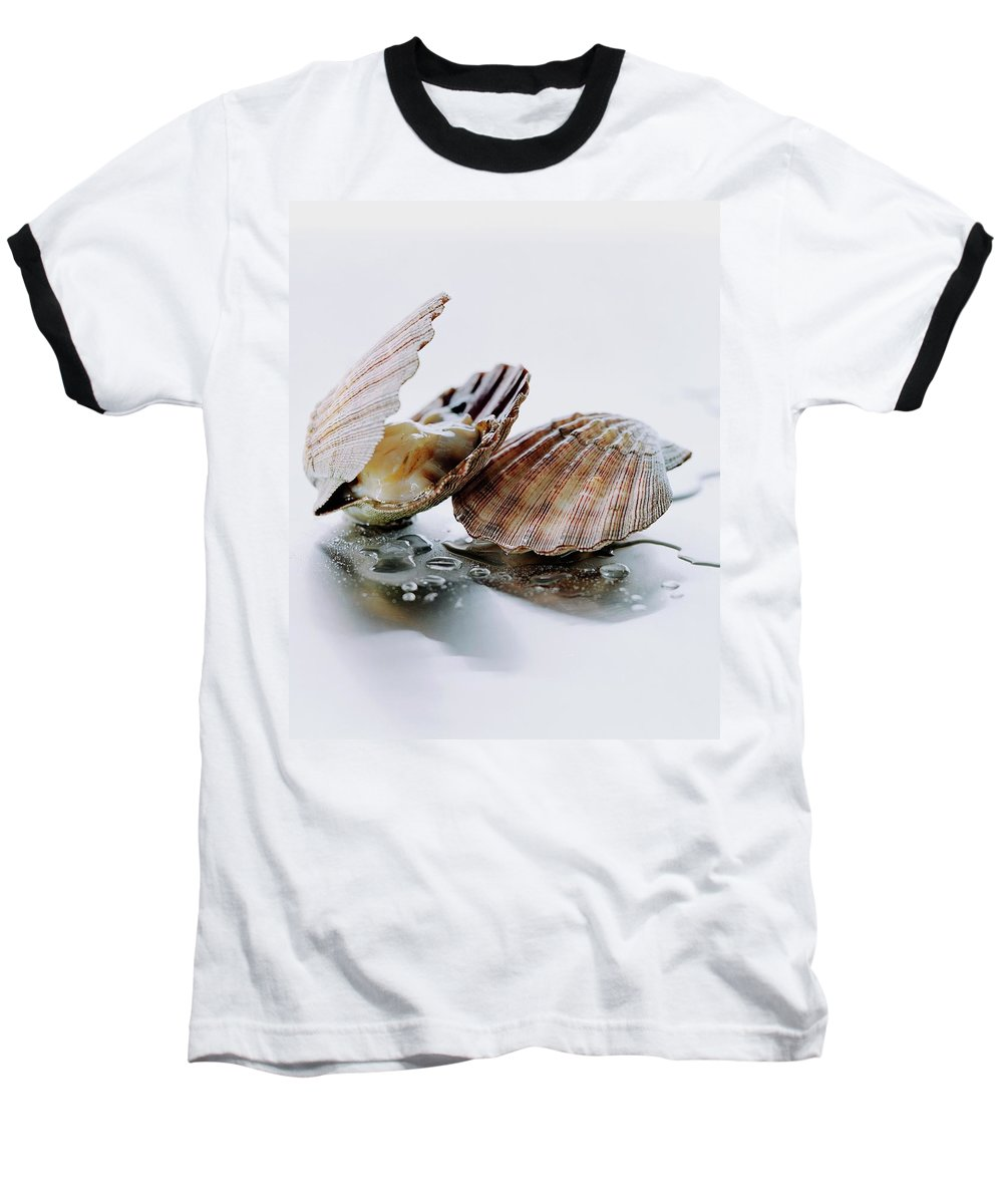 Cooking Baseball T-Shirt featuring the photograph Two Scallops by Romulo Yanes