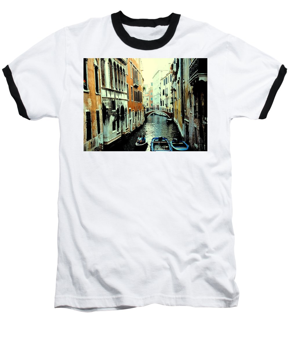 Venice Baseball T-Shirt featuring the photograph Venice Street Scene by Ian MacDonald