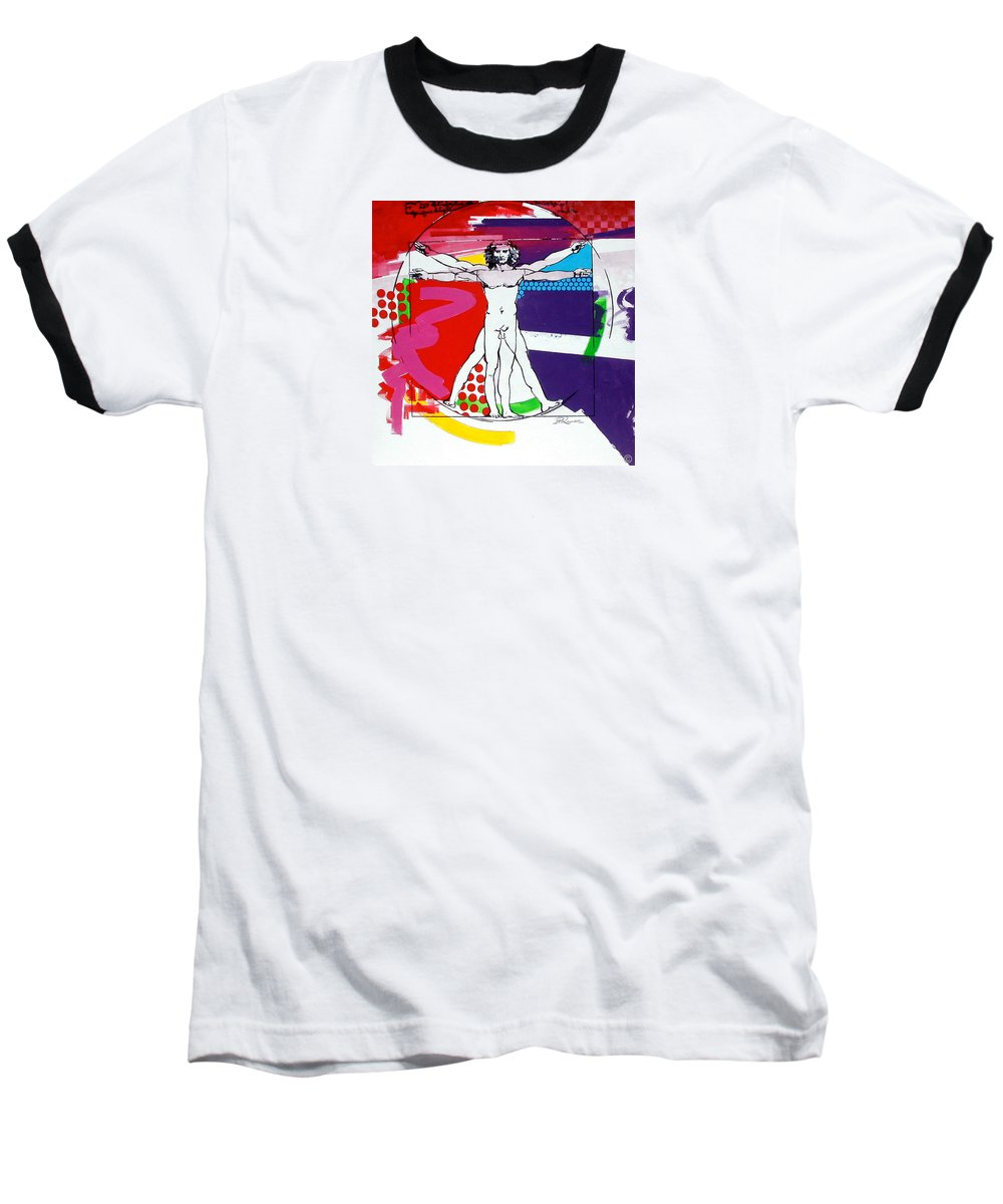 Classic Baseball T-Shirt featuring the painting Vetruvian by Jean Pierre Rousselet