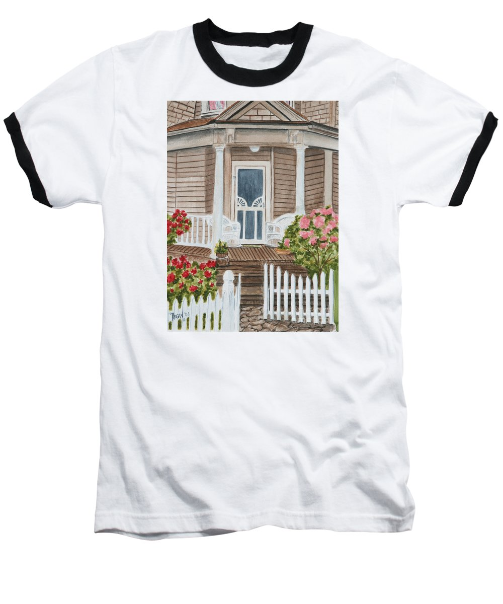 Architecture Baseball T-Shirt featuring the painting Welcome by Regan J Smith