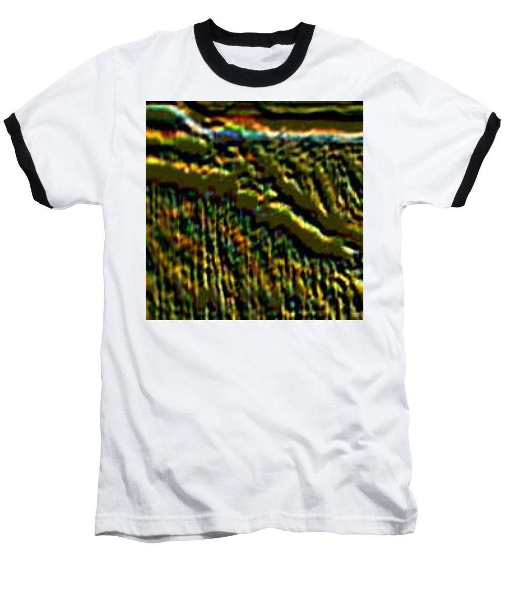 Canyons Baseball T-Shirt featuring the digital art South Rim- N -green Grandeur by Brenda L Spencer