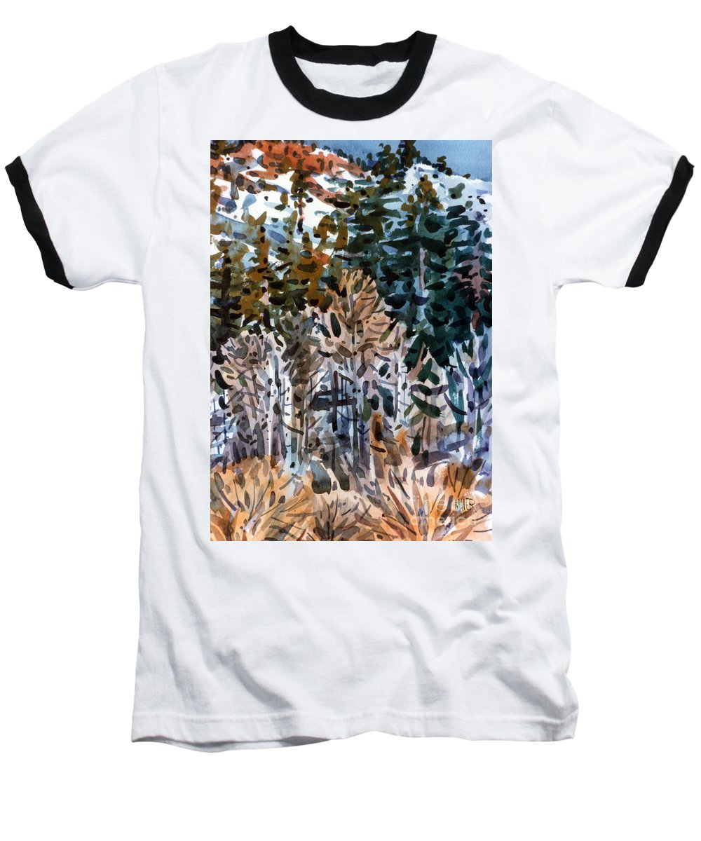 Walker River Baseball T-Shirt featuring the painting Along The Walker River by Donald Maier