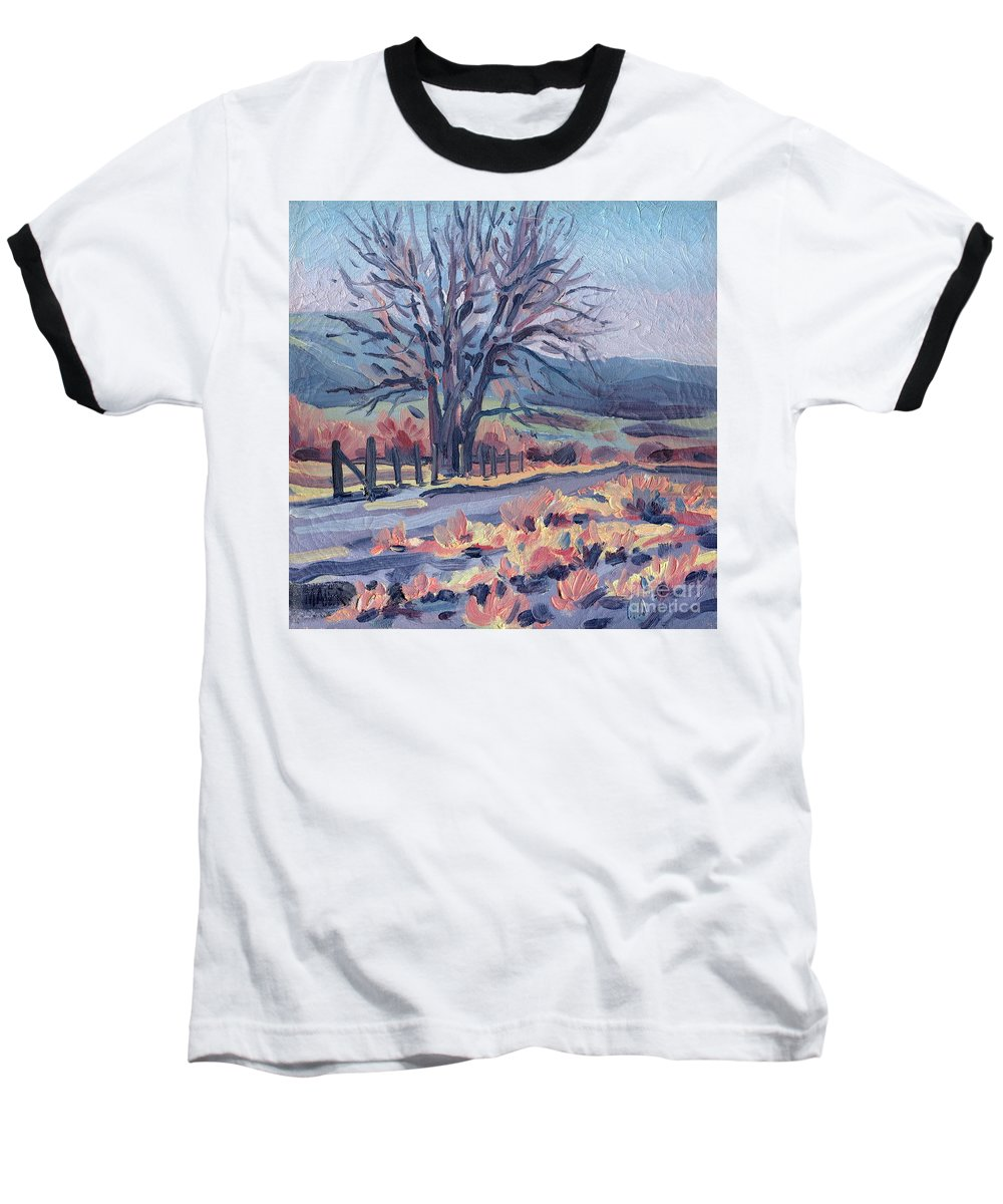 Road Baseball T-Shirt featuring the painting Country Road by Donald Maier
