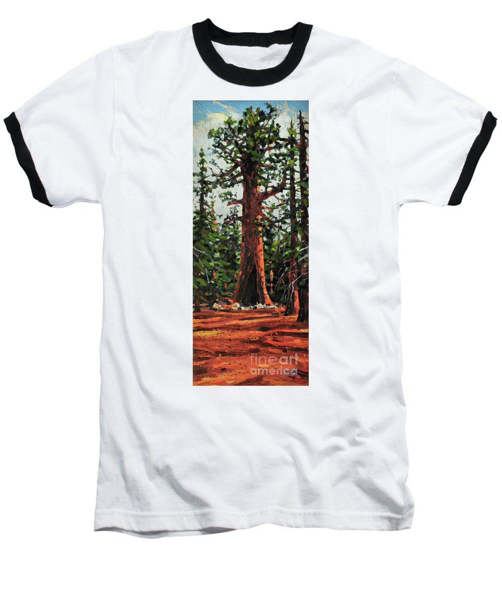 General Sherman Baseball T-Shirt featuring the painting General Sherman by Donald Maier
