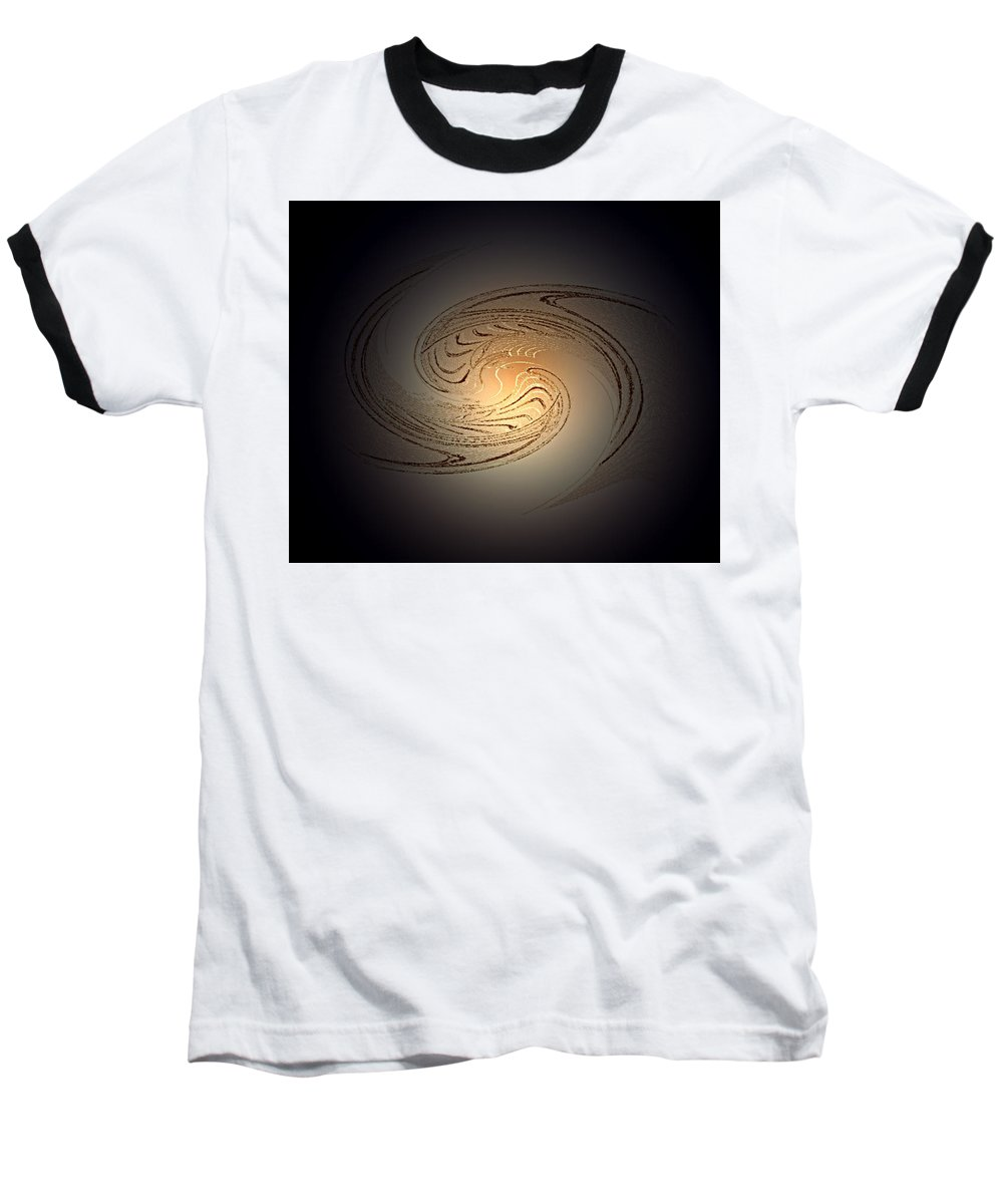Swirl Baseball T-Shirt featuring the digital art In The Beginning by Don Quackenbush