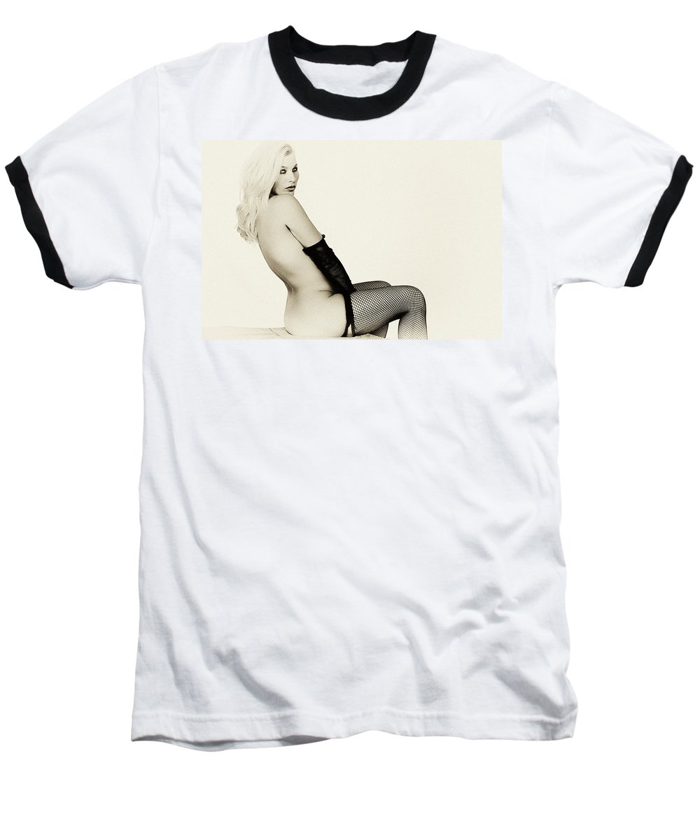 Clay Baseball T-Shirt featuring the photograph Vintage Pinup Glamour by Clayton Bruster