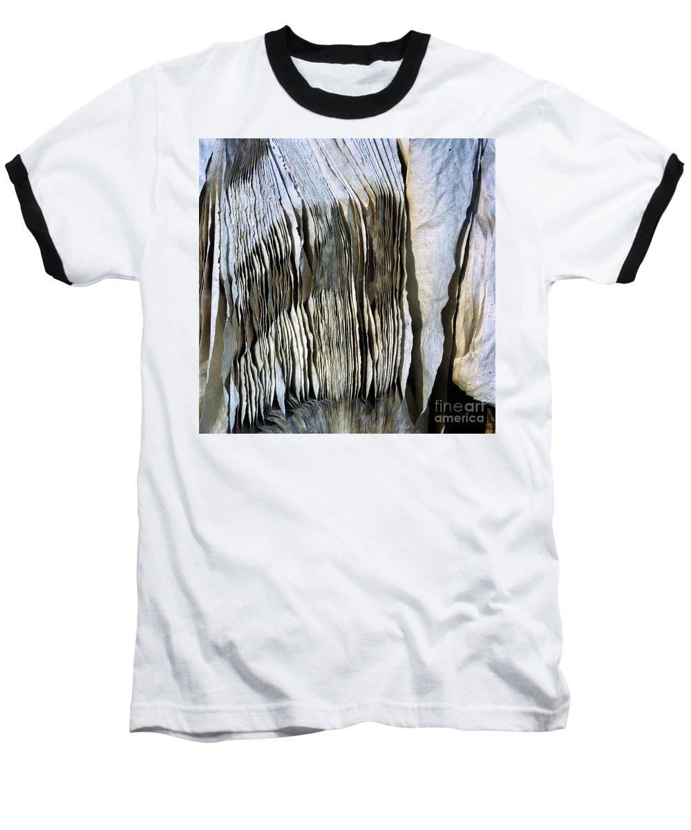 Yards Baseball T-Shirt featuring the photograph Compressed Pile Of Paper Products by Bernard Jaubert