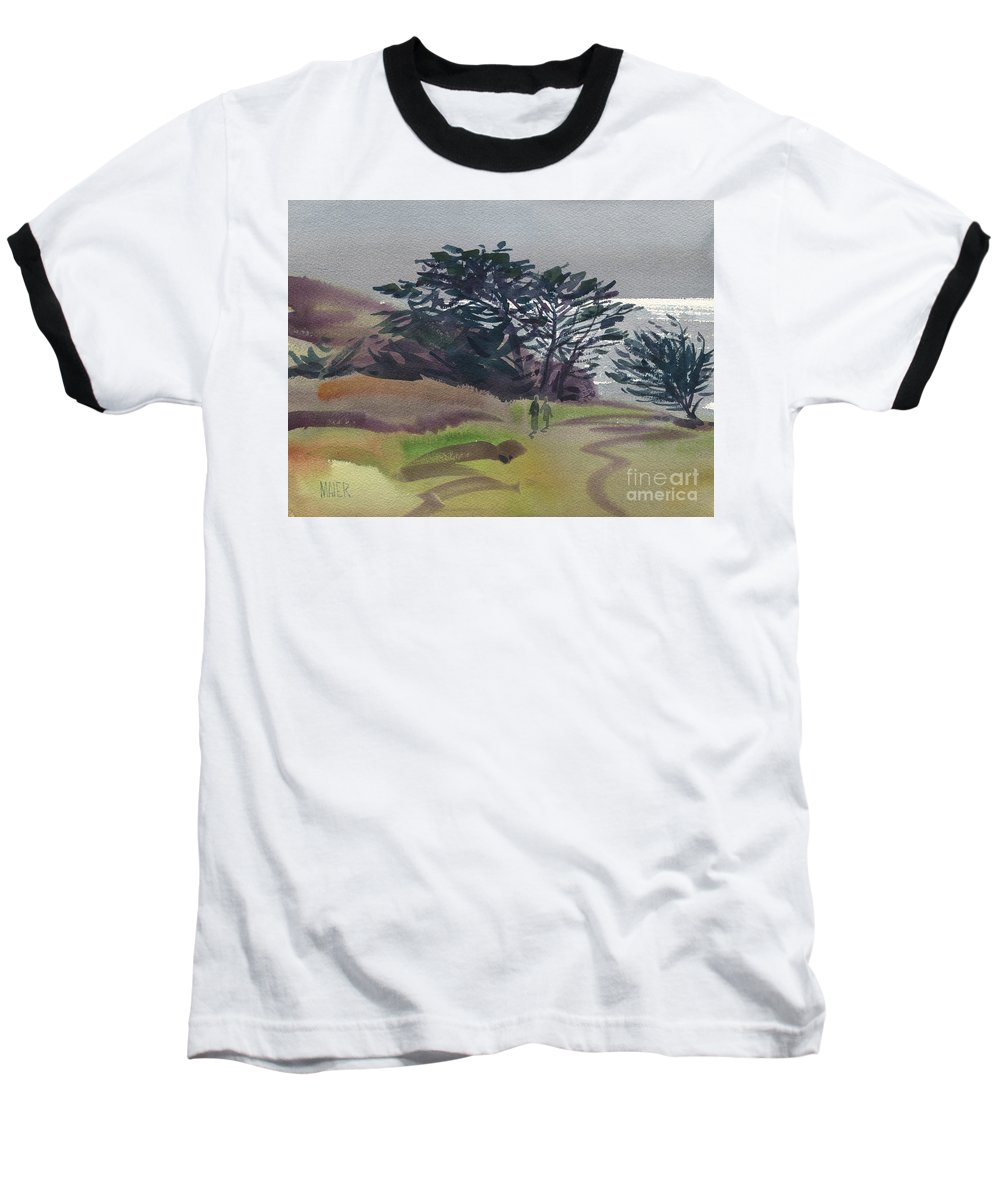 Plein Air Baseball T-Shirt featuring the painting Miramonte Point 1 by Donald Maier