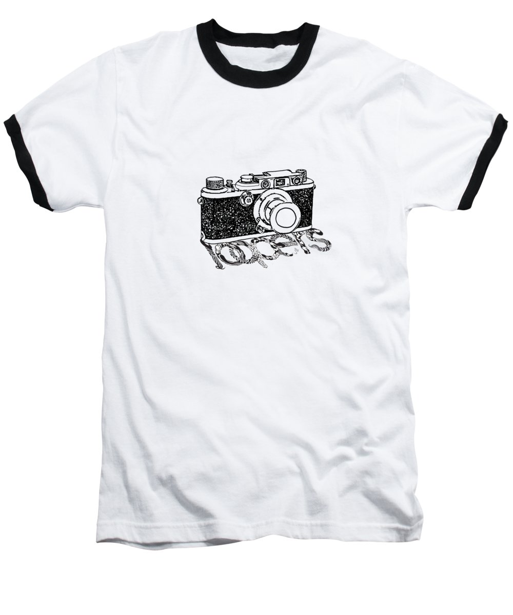 Analog Baseball T-Shirt featuring the painting Rangefinder Camera 5 by Setsiri Silapasuwanchai