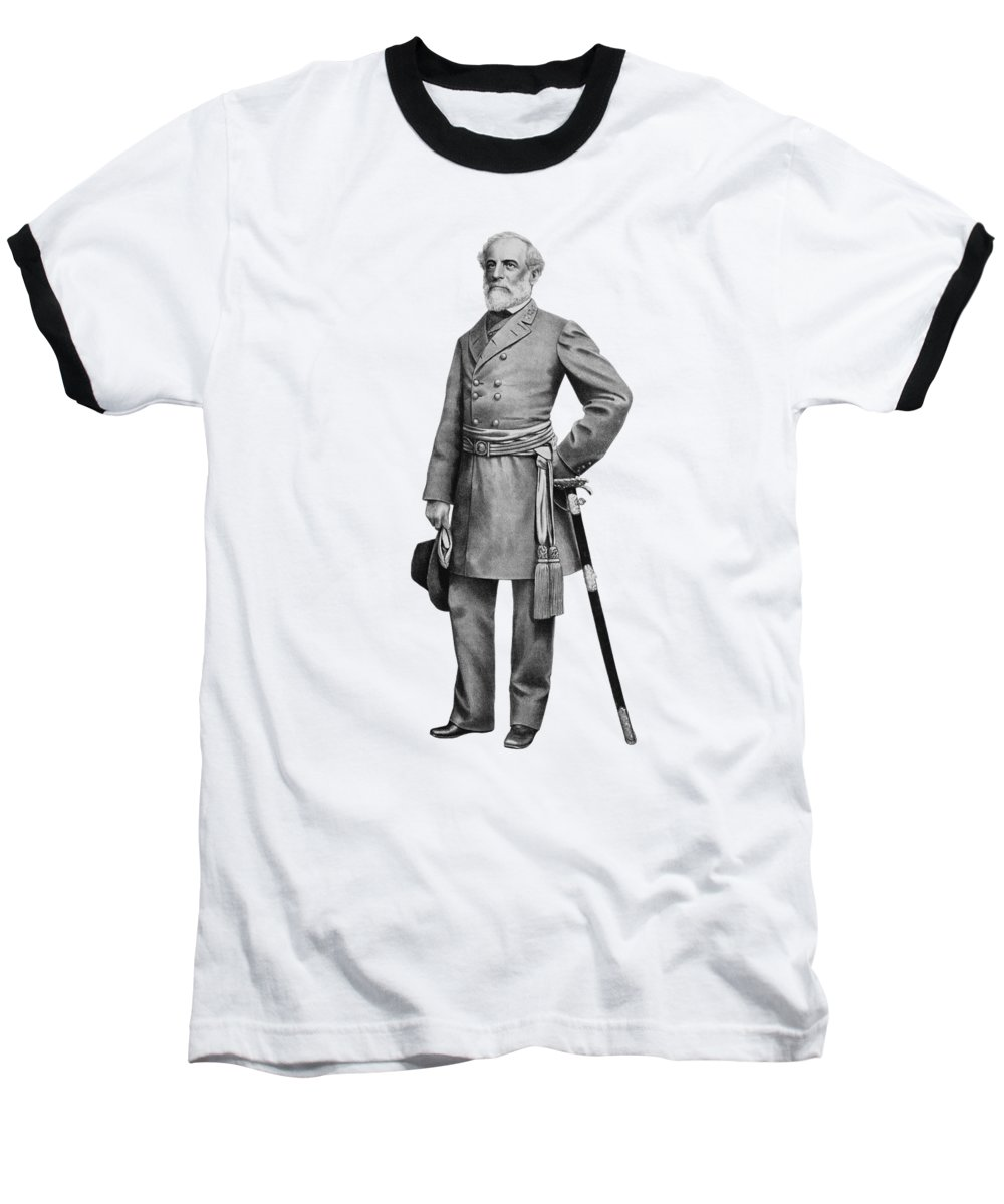Robert E Lee Baseball T-Shirt featuring the mixed media General Robert E Lee by War Is Hell Store
