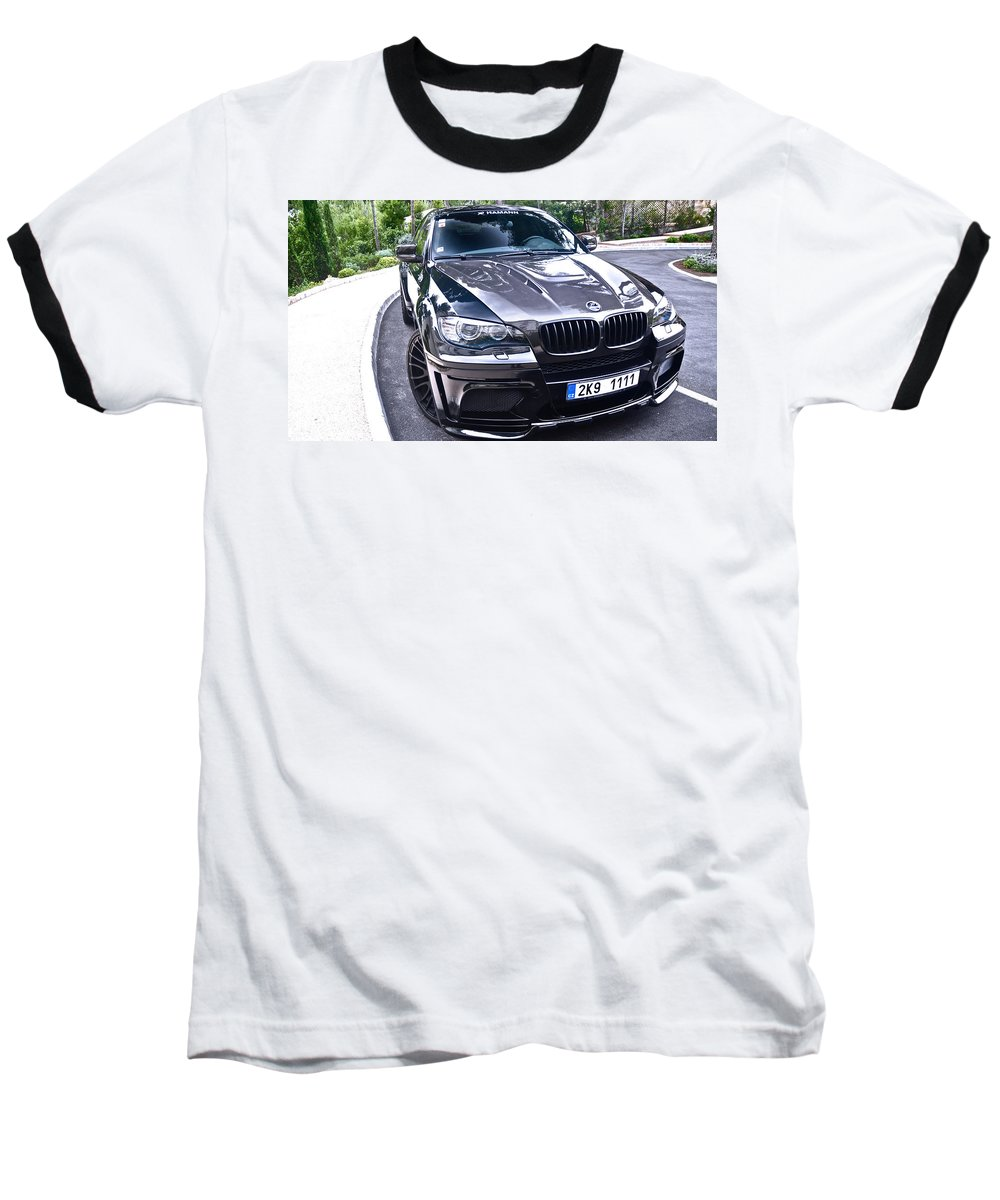 Bmw Baseball T-Shirt featuring the photograph BMW by Jackie Russo