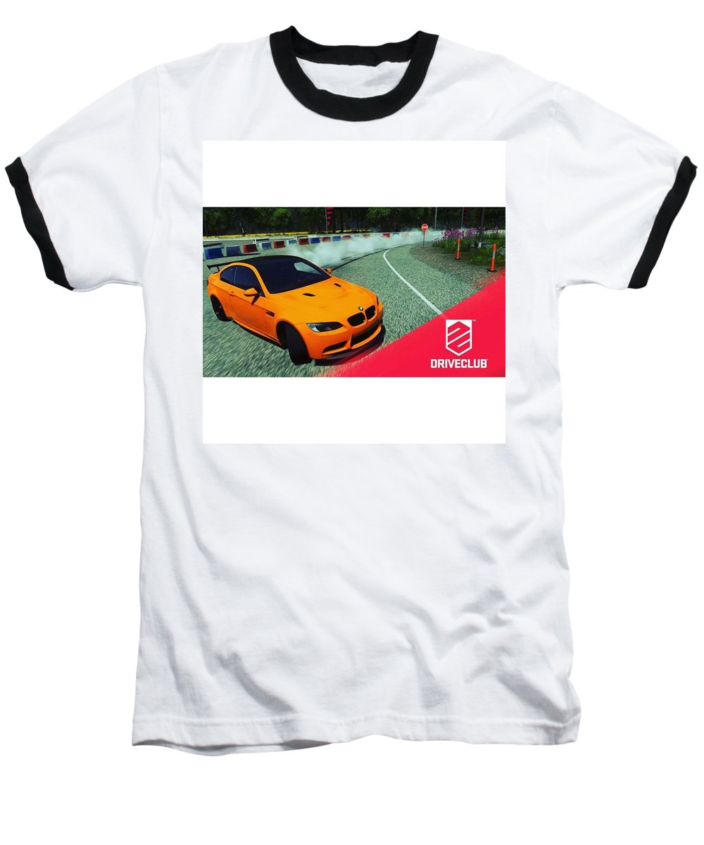 Gaming Baseball T-Shirt featuring the photograph A Nice #bmw #m3 #gts #drift, Pic Taken by Hannes Lachner
