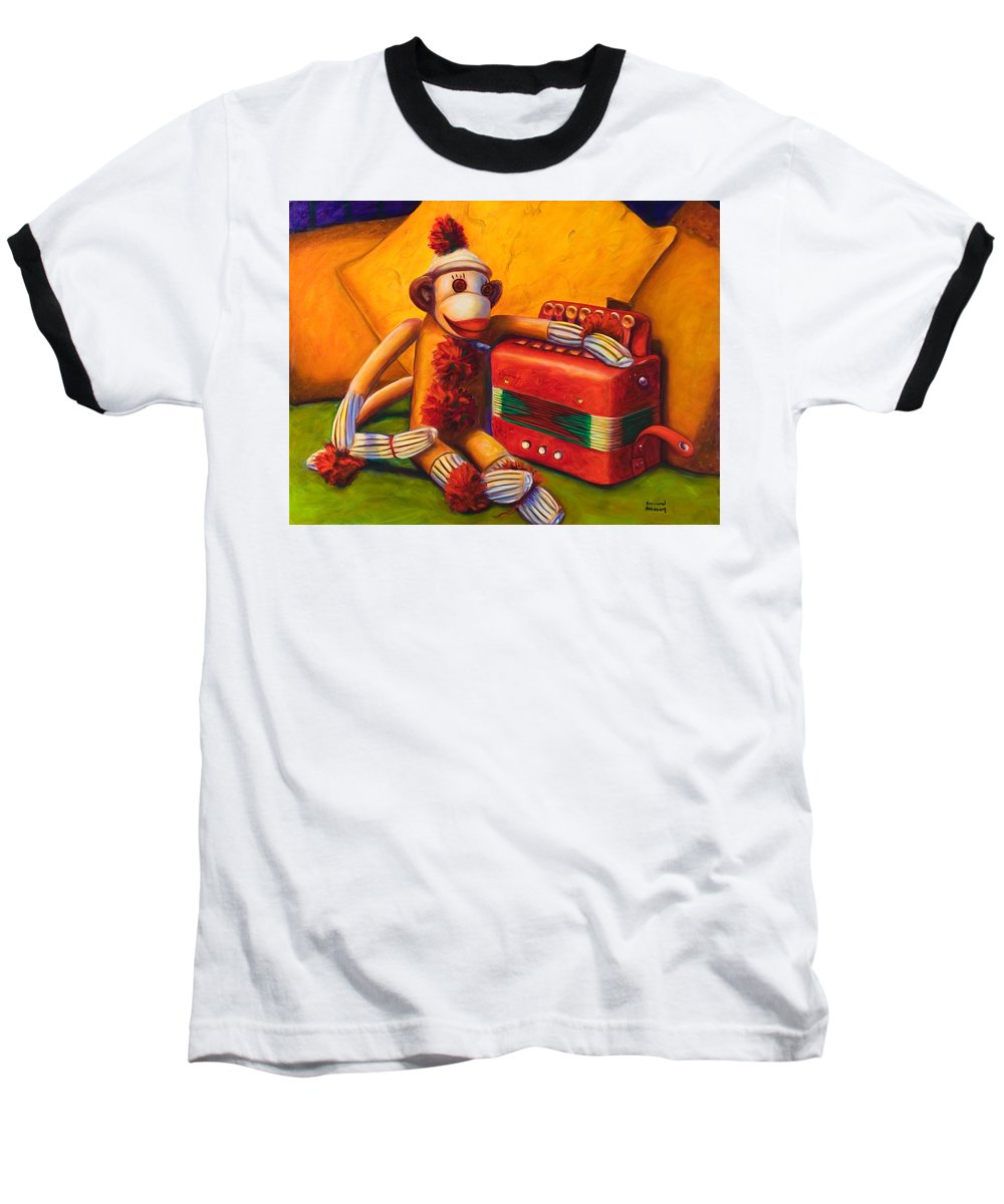 Children Baseball T-Shirt featuring the painting Accordion by Shannon Grissom