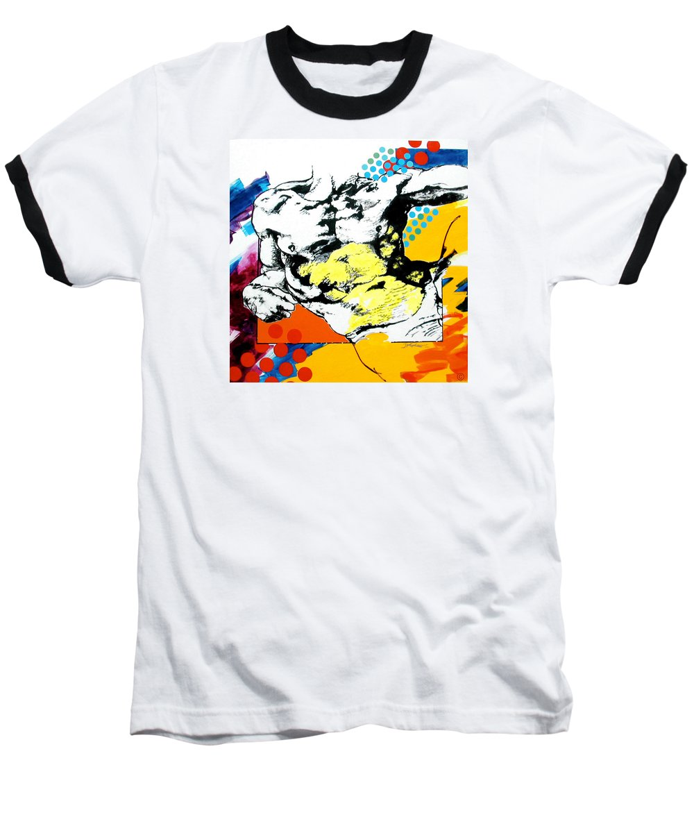 Pop Baseball T-Shirt featuring the painting Adam by Jean Pierre Rousselet