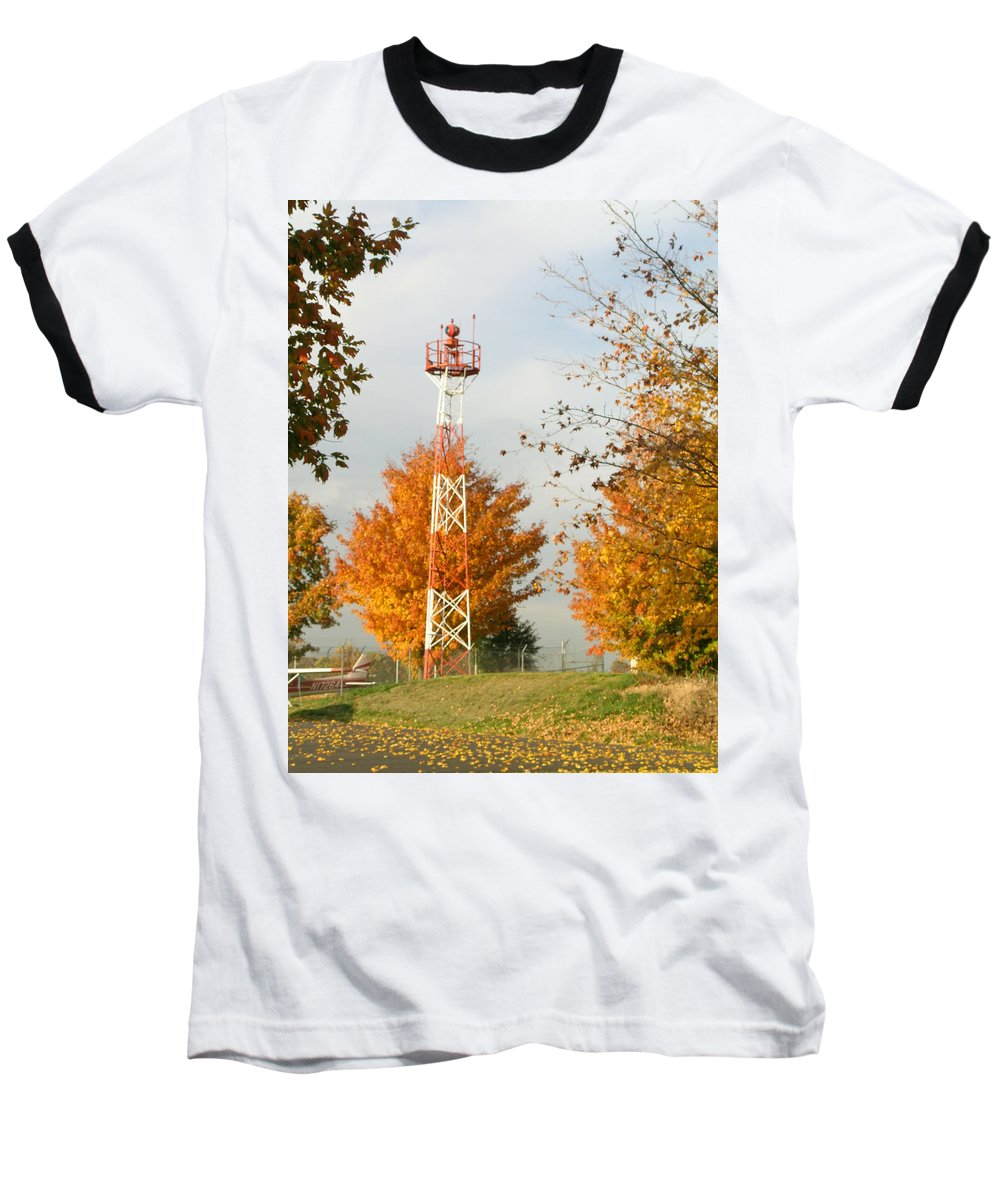 Airport Baseball T-Shirt featuring the photograph Airport Tower by Douglas Barnett