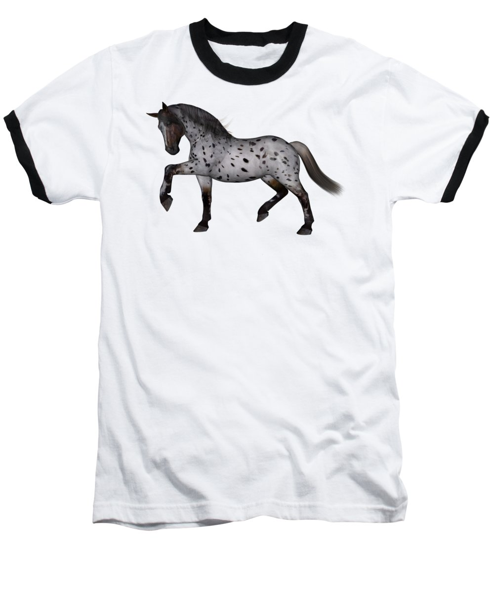 Horse Baseball T-Shirt featuring the digital art Albuquerque by Betsy Knapp
