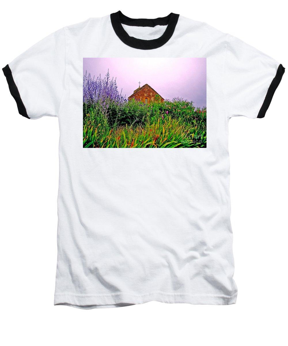 Chapel Baseball T-Shirt featuring the photograph Ameugny 3 by Jeff Barrett