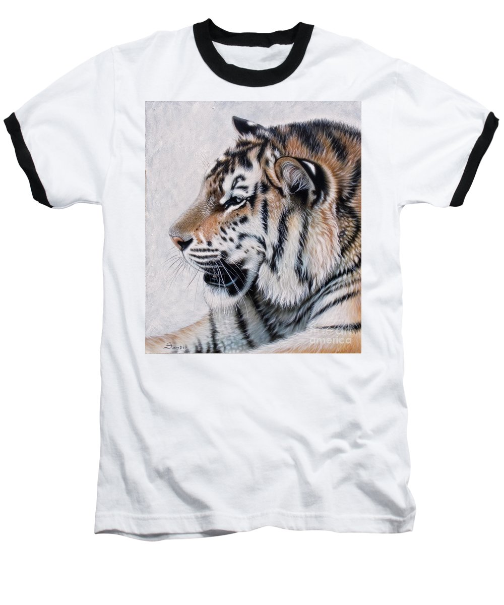 Acrylic Baseball T-Shirt featuring the painting Amur by Sandi Baker