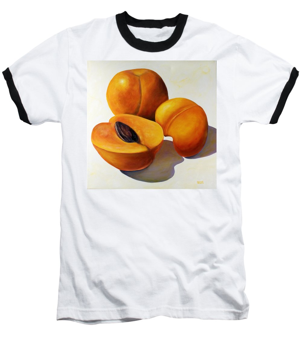 Apricots Baseball T-Shirt featuring the painting Apricots by Shannon Grissom