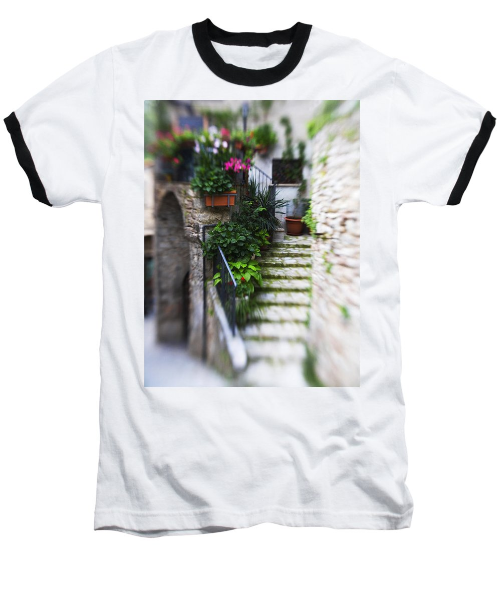 Italy Baseball T-Shirt featuring the photograph Archway And Stairs by Marilyn Hunt