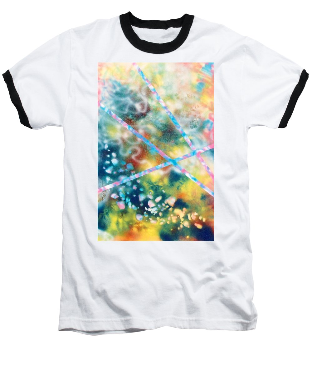 Abstract Baseball T-Shirt featuring the painting Autumn by Micah Guenther