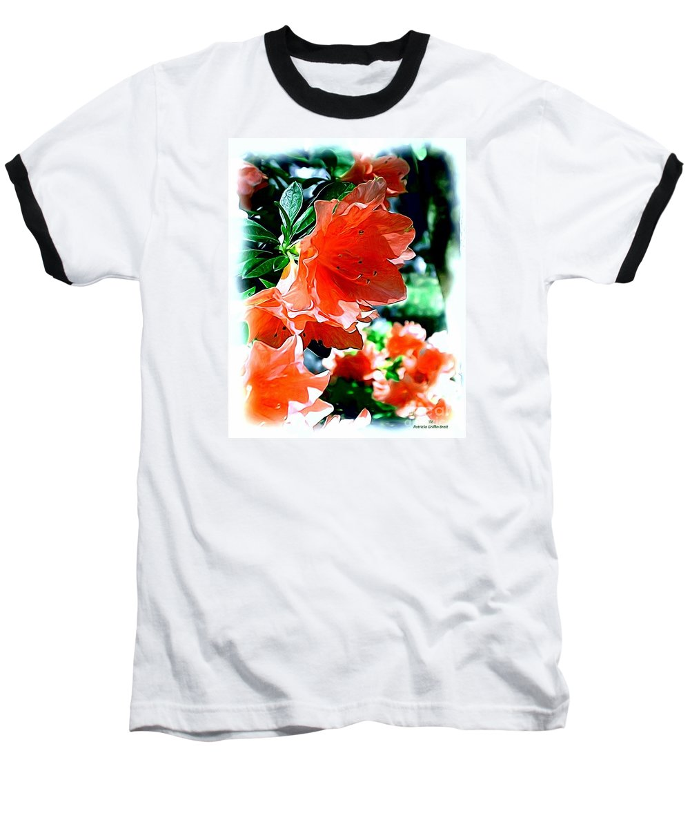 Fine Art Baseball T-Shirt featuring the painting Azaleas In The Spring by Patricia Griffin Brett