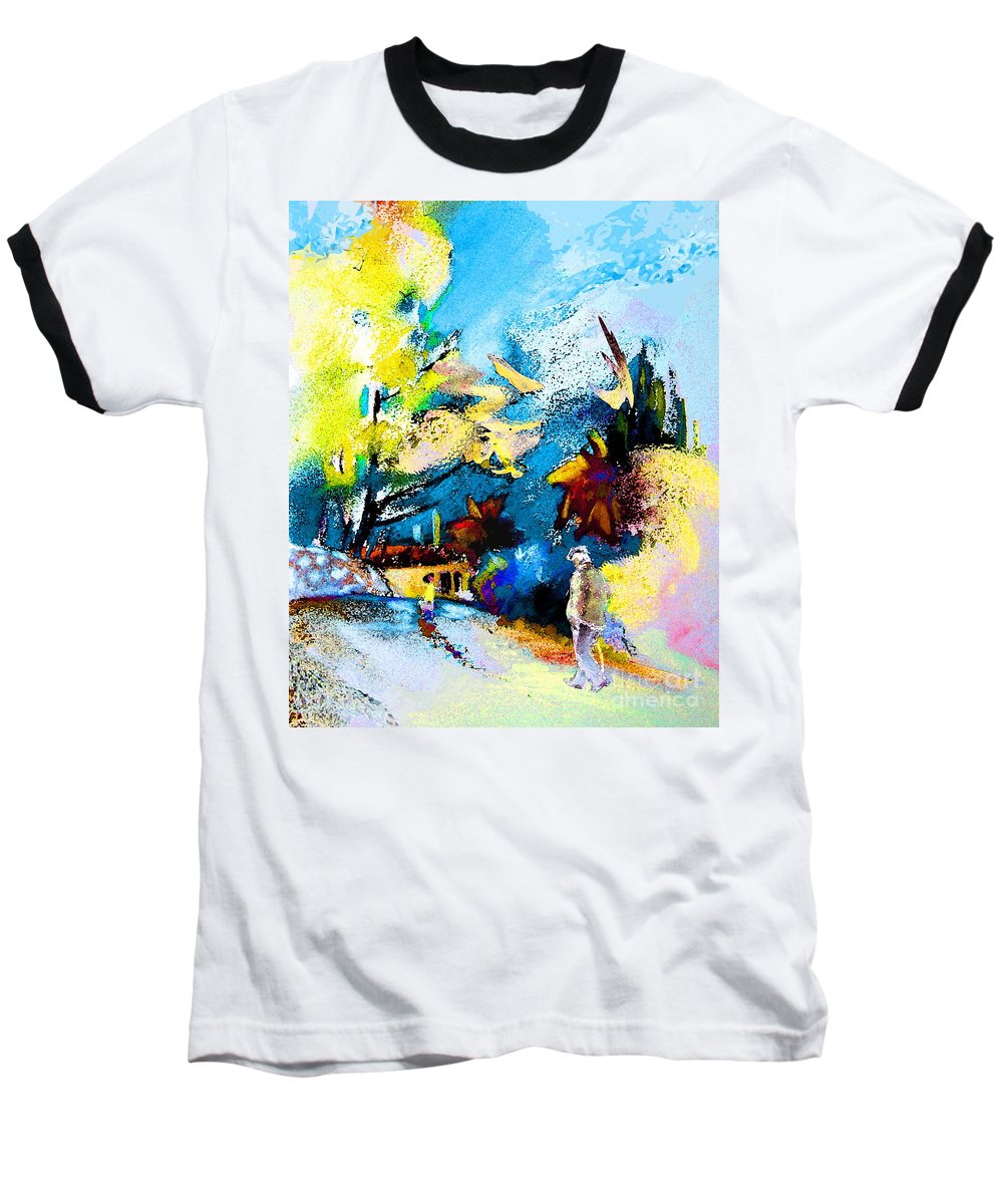 Pastel Painting Baseball T-Shirt featuring the painting Back Home by Miki De Goodaboom